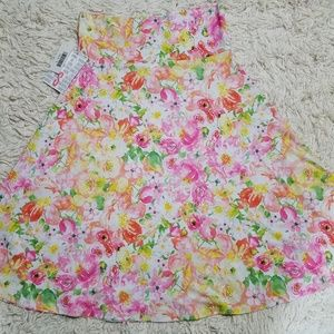 Lularoe Azure Floral Skirt Small Spring Colors